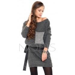 Sukienka swetrowa z kieszonką